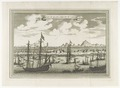KITLV - 37C10 - View of Quang-Cheu-fu or Canton (Guangzhou). Sailing ships, town with pagode, mountains - Engraving - Circa 1750.tif