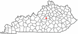 Location of Mackville, Kentucky