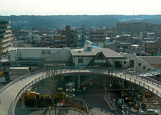 Kabe Station (Tokyo) - Northern view of Kabe Station, February 2008
