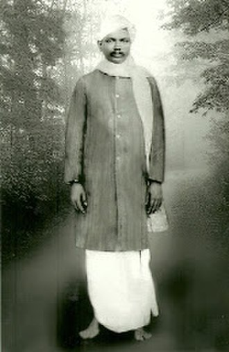 Kaderbad Narasinga Rao - Kaderbad Narasinga Rao in official dress of Municipal Chairman of Nandyal, India