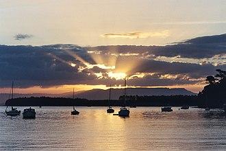 Kaimai Range - Kaimai Range forms a backdrop to Tauranga Harbour