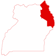 Location in Uganda