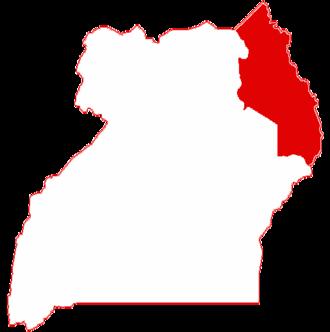 Karamoja - Location in Uganda