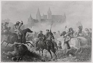 Anno 1672. Condé raakt bij de Franse overtocht van de Rijn gewond
