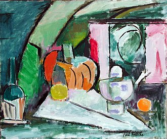 "Karl Knaths - Karl Knaths, painting of 1964 entitled ""Pumpkin""; 30"" x 36""; oil on canvas"