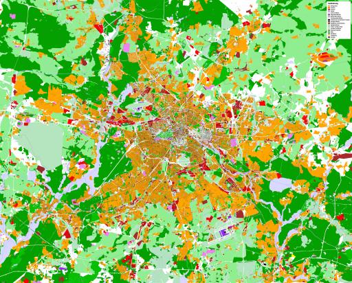 Karte Berlin Landnutzung