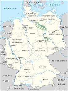 Karte Bisophärenreservat Elbtalaue