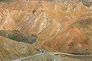 A bus on the Leh-Kargil highway