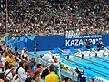 Kazan 2015 - Kazan Arena after setting women's 800m freestyle world record by Ledecki.JPG