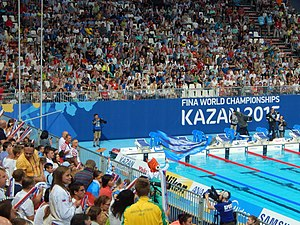 Swimming at the 2015 World Aquatics Championships – Women's 800 metre freestyle - Kazan Arena after finish the final
