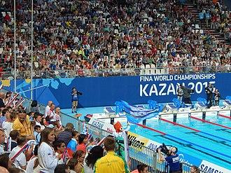 Swimming at the 2015 World Aquatics Championships – Women's 800 metre freestyle - Kazan Arena after finish the final