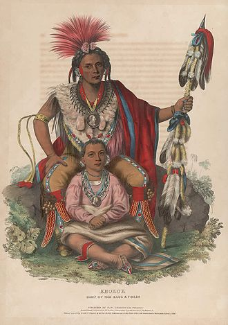 Keokuk (Sauk leader) - Image: Keokuk,King