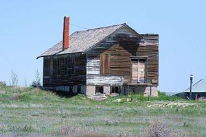 Keota, Colorado - Remains of the Keota church, 2010