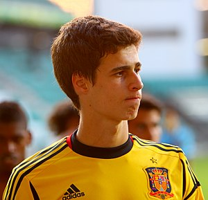 Kepa Arrizabalaga - Arrizabalaga in action for Spain U19