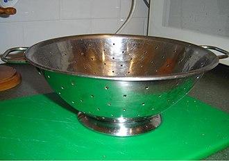 Colander - A typical household colander