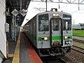 Kiha 143 at Tomakomai Station.jpg