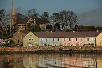 Killyleagh - Killyleagh harbour and St John's church