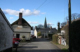 Kings Nympton village in the United Kingdom