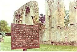 King Arthur's tombsite at Glastonbury Abbey