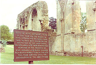 Historicity of King Arthur - The site of Arthur's purported grave at Glastonbury Abbey