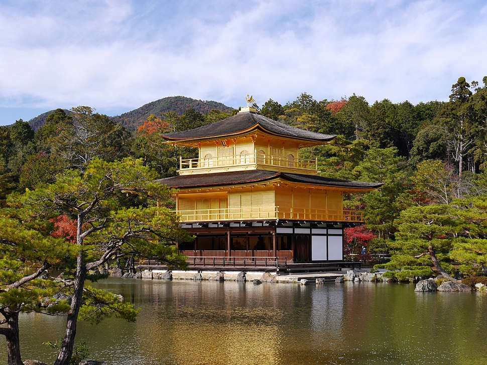 Kinkaku-ji the Golden Temple in Kyoto overlooking the lake - high rez