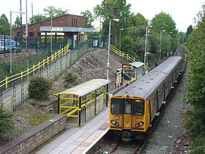 Kirkby railway station - Image: Kirkby Railway Station Merseyrail platform