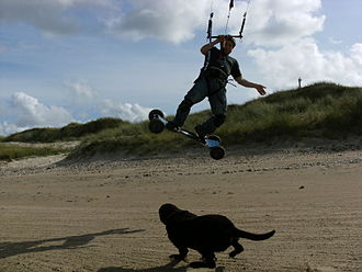 Blacksod Bay - Image: Kiteboard