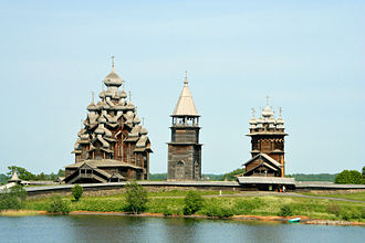 Kizhi Pogost - View of two main churches