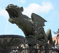 Lindwurm - The winged dragon of Klagenfurt