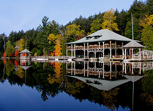 Saranac Lake, New York - Knollwood Club on Lower Saranac Lake, home of George Marshall