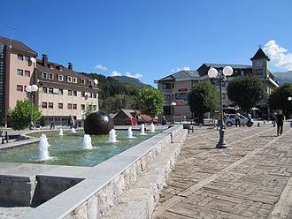 Kolašin - Main town square in Kolašin