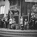 Koningin Juliana en prins Bernhard tijdens het uitspreken van de troonrede in de, Bestanddeelnr 919-5775.jpg
