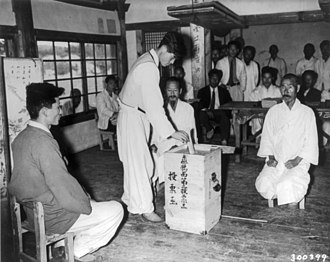 1948 South Korean Constitutional Assembly election - Voting in the election