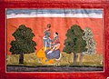 Krishna and radha at bank of yamuna from Gita govinda series by manaku.jpg