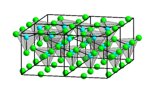 Zinc chloride - Image: Kristallstruktur Zinkchlorid