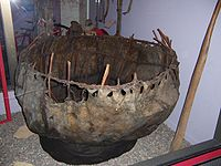 The Ku-Dru or Kowa of Tibet is very similar to a coracle—Field Museum of Natural History, Chicago