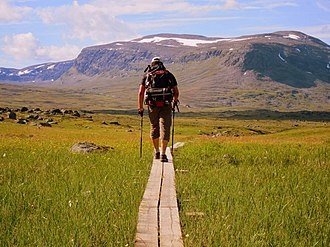 Kungsleden - The Kungsleden trail between Alesjaure and Tjäktja huts