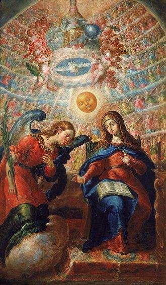 Cristóbal de Villalpando - Image: La Anunciación Cristóbal de Villalpando