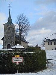 La Chapelle-Rambaud - entree du village.JPG