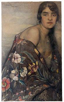 f4284026dd119 La Criolla del Mantón (hacia 1910)