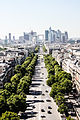 La Défense from the Arc de Triomphe, Paris 20 August 2013 003.jpg