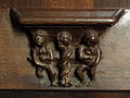 La Guerche-de-Bretagne (35) Basilique Stalle 12 Miséricorde.JPG
