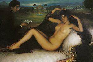 Español: La Venus de la poesía. 1913. Óleo y t...