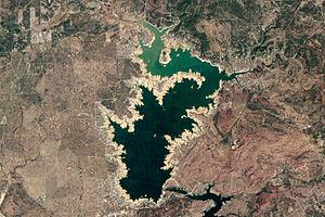 Lake Buchanan (Texas) - Landsat 5 image of Lake Buchanan in October 2011