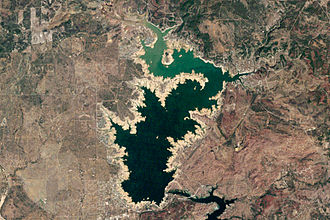 Lake Buchanan (Texas) - Landsat 5 image of Lake Buchanan in October 2011