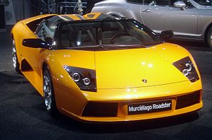 The Lamborghini Murciélago is a 4WD that power...