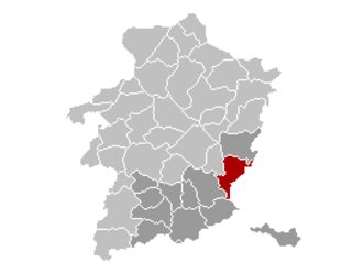 Lanaken - Image: Lanaken Limburg Belgium Map