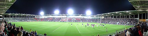 Panorama of Langtree Park on opening night in January 2012.