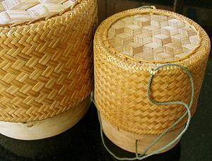 Glutinous rice - A Lao rice basket