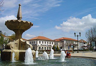 Mangualde - The main square in Mangualde, Largo Dr. Couto, location of the municipal authority